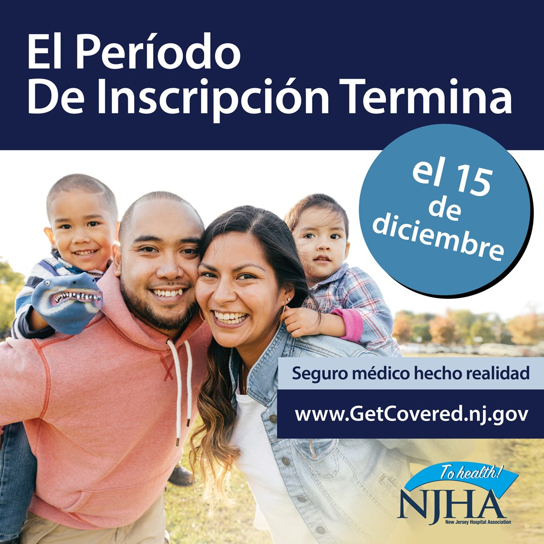 Marketplace Open Enrollment. Father and mother holding two children.